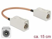 Delock Antenna Cable FAKRA B jack > FAKRA B jack RG-316 15 cm