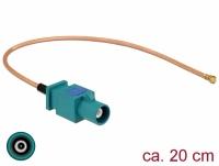 Delock Antenna Cable FAKRA Z plug > MHF plug RG-178 20 cm