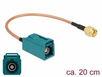 Delock Antenna Cable FAKRA Z jack > RP-SMA plug RG-316 20 cm