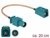 Delock Antenna Cable FAKRA Z plug > FAKRA Z jack RG-316 20 cm
