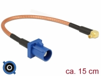 Delock Antenna Cable FAKRA C plug > MMCX 90° plug RG-316 15 cm