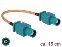 Delock Antenna Cable FAKRA Z plug > FAKRA Z plug RG-316 15 cm