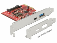 Delock PCI Express x4 Card > 1 x external USB Type-C™ female + 1 x external USB 3.1 Gen 2 Type-A female