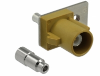 Delock FAKRA K plug spring pin for soldering 1 prepunched hole