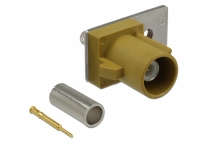 Delock FAKRA K plug spring pin for crimping 1 prepunched hole