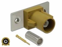 Delock FAKRA K plug spring pin for crimping 2 prepunched holes