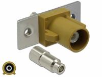 Delock FAKRA K plug spring pin for soldering 2 prepunched holes