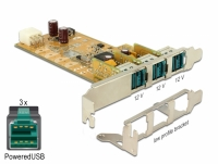 Delock PoweredUSB PCI Express Card > 3 x 12 V