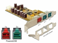 Delock PoweredUSB PCI Express Card > 1 x 24 V + 2 x 12 V