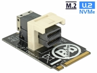 Delock Adapter M.2 Key M > SFF-8643 NVMe horizontal 2242