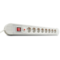 Lindy Mains 8 way gang socket, with switch