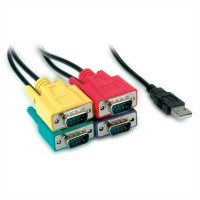 ROLINE USB to 4 RS-232 Converter