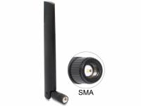 Delock NB-IoT 900 MHz Antenna SMA plug 3 dBi omnidirectional with tilt joint black