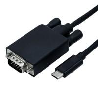 ROLINE USB Type C - VGA Cable, M/M, 2.0 m
