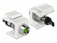 Delock Keystone LED green 6 V, white