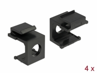 Delock Keystone cover black with 8 mm hole 4 pieces