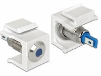 Delock Keystone LED blue 6 V flat, white