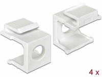 Delock Keystone cover white with 8 mm hole 4 pieces