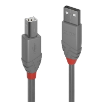 Lindy 1m USB 2.0 Type A to B Cable, Anthra Line
