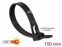 Delock Cable ties reusable heat-resistant L 150 x W 7.5 mm 100 pieces black