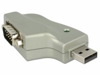Delock Adapter USB 2.0 Type-A > 1 x Serial DB9 RS-232 110° angled