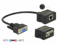 Delock Extender RS-232 DB9 female RJ45 female to RS-232 DB9 male RJ45 female ESD protection 1200 m range extended temperature ra