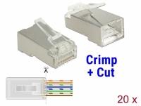 Delock RJ45 Crimp+Cut Plug Cat.6 STP 20 pieces
