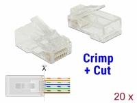 Delock RJ45 Crimp+Cut Plug Cat.6 UTP 20 pieces