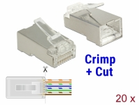 Delock RJ45 Crimp+Cut Plug Cat.5e STP 20 pieces