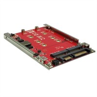 ROLINE M.2 to SATA III SSD H/W adapter, 2x M.2 NGFF SSD, bootable and RAID-capab