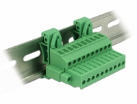 Delock Terminal block set for DIN rail 10 pin with screw lock