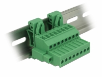 Delock Terminal block set for DIN rail 8 pin with screw lock