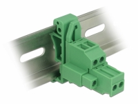 Delock Terminal block set for DIN rail 2 pin with screw lock