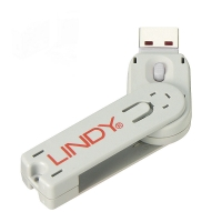 Lindy USB Type A Port Blocker Key, white