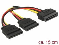 Delock Cable Power SATA 15 pin > 2 x SATA HDD – straight