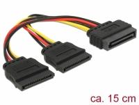 Delock Cable Power SATA 15 pin > 2 x SATA HDD – straight