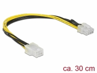 Delock PCI Express power cable 6 pin female > 8 pin male 30 cm