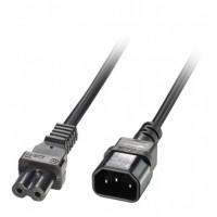 Barošanas kabelis IEC C14 uz IEC C7 (Figure 8), 2.0m, Lindy
