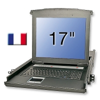 "Lindy 17""/43.2cm LCD KVM Terminal Basic, FR layout"