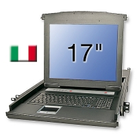 "Lindy 17""/43.2cm LCD KVM Terminal Basic, IT layout"