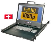 "Lindy Full HD DVI 17""/44cm LCD KVM Terminal PRO USB 2.0, CH Layout"