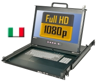 "Lindy Full HD DVI 17""/44cm LCD KVM Terminal PRO USB 2.0, IT Layout"