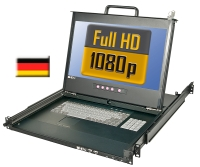 "Lindy Full HD DVI 17""/44cm LCD KVM Terminal PRO USB 2.0, DE Layout"