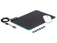 Delock USB Mouse Pad 350 x 260 x 3 mm with RGB Illumination