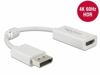 Delock DisplayPort 1.4 Adapter to HDMI 4K 60 Hz with HDR function Passive white