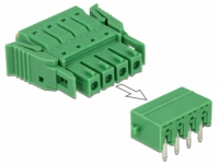 Delock Terminal block set for PCB 4 pin 3.81 mm pitch horizontal