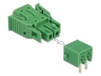 Delock Terminal block set for PCB 2 pin 3.81 mm pitch horizontal
