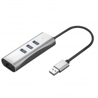 VALUE USB 3.0 to Gigabit Ethernet Converter + Hub 3x