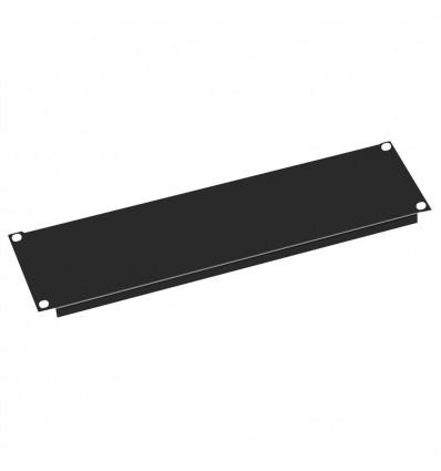 "Value 19"" Blank Panel, 3U, Metal, RAL 9005 black"