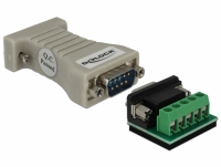 Delock Converter 1 x Serial RS-232 DB9 female to 1 x Serial RS-422/485 DB9 male with ESD protection 15 kV